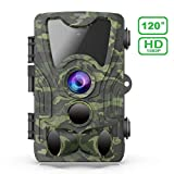 Trail Camera - FHDCAM Trail Camera, Scouting Hunting Cam with Motion Activated, 1080P HD, Night Vision, 120° Wide Angle Lens, IP65 Waterproof Game Camera for Wildlife - New Version