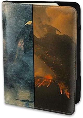 Godzilla King Of The Monsters Titans ゴジラ モンスター ロゴ パスポートケース メンズ 男女兼用 パスポートカバー パスポート用カバー パスポートバッグ 小型 携帯便利 シンプル ポーチ 5.5インチ高級PUレザー 家族 国内海外旅行用品