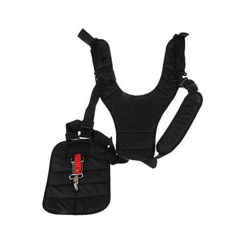 Wallee Brush Cutter Trimmer Adjustable Double Shoulder Harness Strap Comfort Nylon Belt for Lawn Mower/Trimmers/Strimmer Parts Garden Tools(Black)