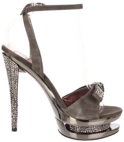 7 amp; 633 FASCINATE Grey Suede EU 40 Pleaser D Day Pewter UK Night Chrome ZqHwxR5PR