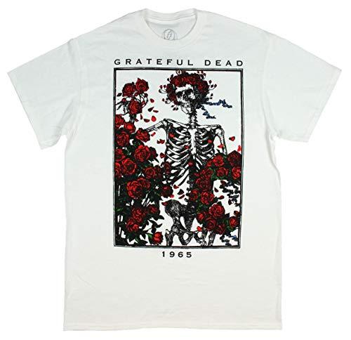 Grateful Dead Men's Skull of Roses 1965 Bertha T-Shirt (Medium) -