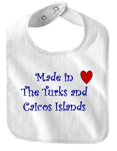 MADE IN THE TURKS AND CAICOS ISLANDS - Country Series - White Bib (Turk Series)