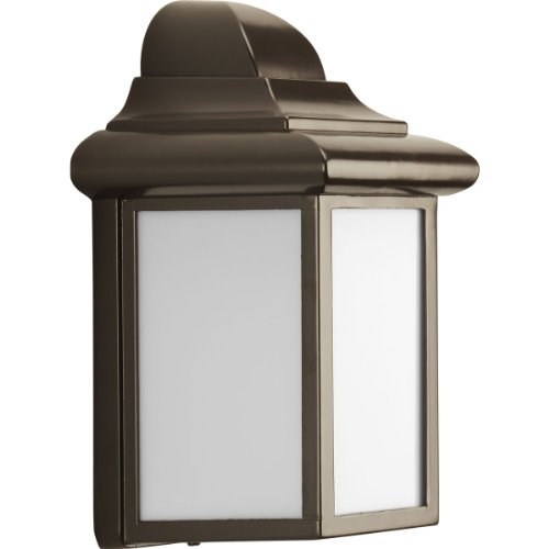 Progress Lighting P5821-20 1-Light Energy Efficient Compact Fluorescent Wall Lantern with Transitional Styling, Antique Bronze