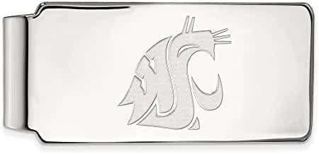 14k White Gold LogoArt Official Licensed Collegiate Washington State Money Clip