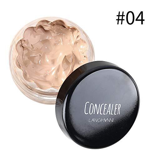 Langmanni Moisturizing Brightening Face Concealer Long Lasting Liquid Foundation Long Lasting Nutritious (#04 Buff Beige)