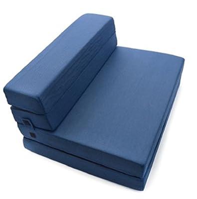 Milliard Simple, but elegant alternative Tri-Fold Foam Folding Mattress and Sofa Bed for Guests or Floor Mat