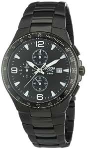 Boccia B3773-03 - Reloj de caballero de cuarzo, correa de titanio color negro (importado)