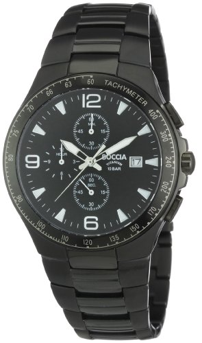 Boccia B3773-03 Mens Titanium Black IP Chronograph Watch