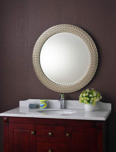 (Kenroy Home Bracelet Wall Mirror, 35 Inch Diameter, Brushed Silver and Gold )