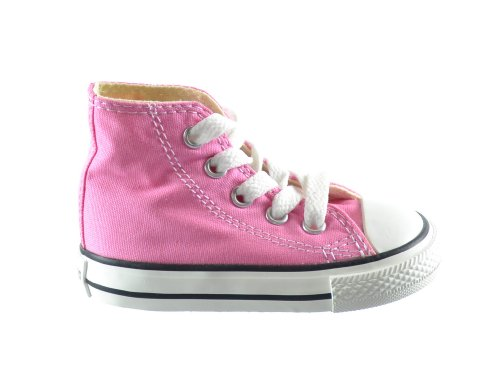 Converse Infant Chuck Taylor All Star 7J234 Hi Pink Infant Size 9](Toddler Converse Shoes Size 9)