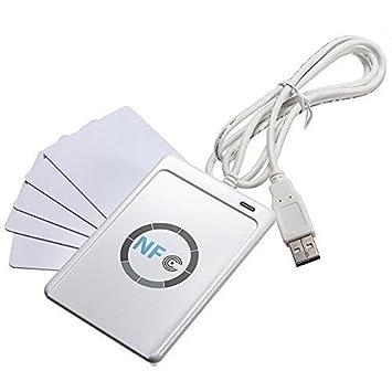 NFC ACR122U RFID inteligentes sin contacto Lector y escritor + 5 ...