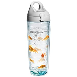 Tervis Goldfish Water Bottle with Lid, 24 oz, Clear