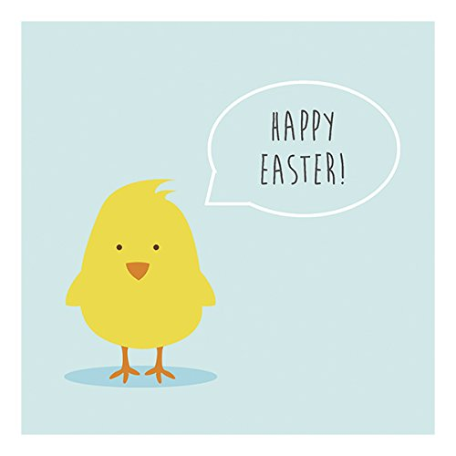 Graphique Happy Easter Chick Party Napkins - 20 Soft Triple-Ply Tissue Napkins With Baby Bird