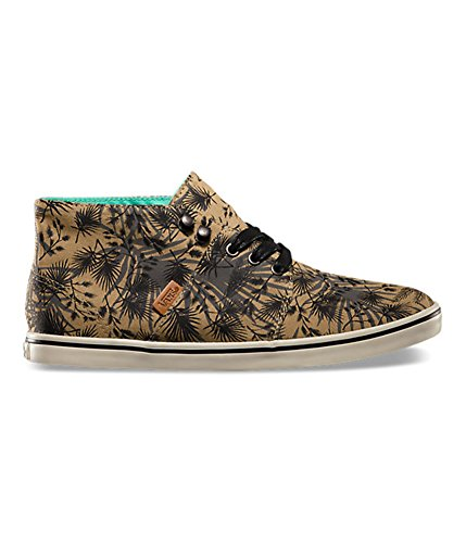 Vans Womens Camryn Slim Palm Camo Sneakers (5, Black/Tan)