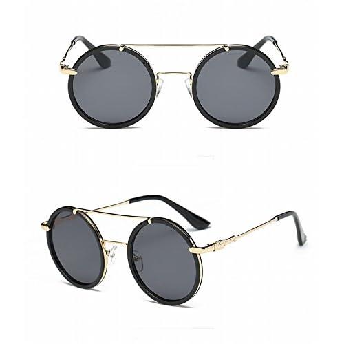 74d0a91ceb Caliente de la venta Moda Gafas de Sol Redondas Grandes Marco 2 Hombres  Liang Hombres Gafas