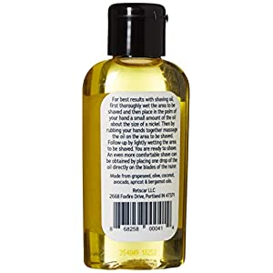 Alonzo's Natural Shaving Oil for Men – Pre Shave, After Shave, Beard Oil for Face Body & Head – 2 oz