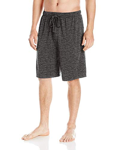 SGNOIEY Men's Sleep Shorts,100% Cotton Knit Sleep Shorts & Lounge Wear-Grey L by SGNOIEY