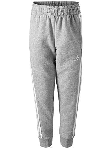Stripe Waist Fleece Pant - adidas Boys' Big Jogger Pant, Gry Heather, S (8/10)