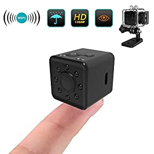 Wifi Action Camera HD 1080P Underwater Camera, Mini Camera With 155°View Angle, Indoor Security Hidden Camera/Nanny Cam Built-in Battery/Night Vision/Motion Detection For Android/iOS/Windows (black)