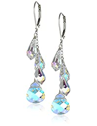 Sterling Silver Swarovski Elements Multi-Teardrop Earrings