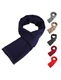 Men's Women's Long Thick/Thin(Two Choice) Soft Warm Knit Cotton Scarves for Winter Spring Unisex