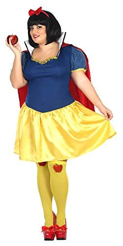 Atosa 31483-Snow White, Misses 'Costume, Size XXL, 18/20 ()