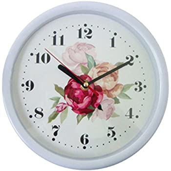 Amazoncom Foxtop Small Wall Clock 8inches Digital Quiet Sweep