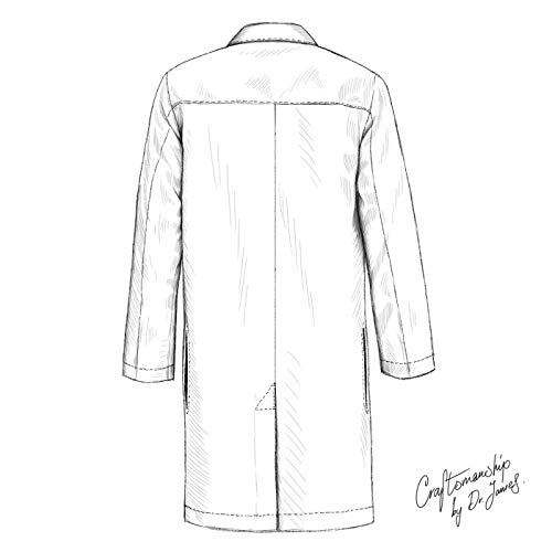 Dr. James Professionally Designed Unisex Lab Coat - 39 Inch Length US-01-2XS by Dr. James (Image #5)
