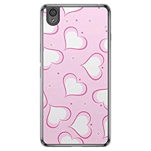 Loud Universe OnePlus X Love Valentine Printing Files Valentine 122 Printed Transparent Edge Case - Pink/White