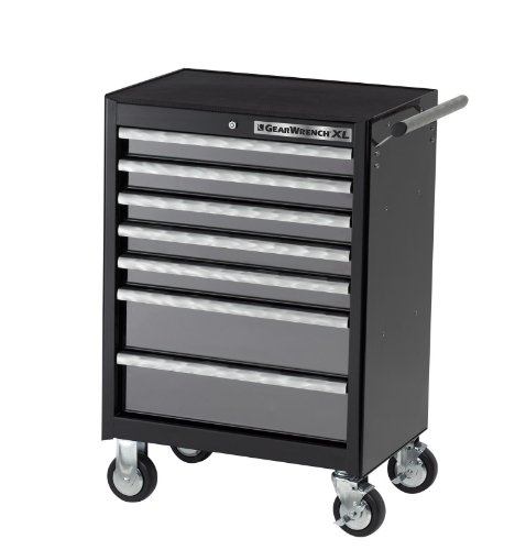 GEARWRENCH 83155 26-Inch 7 Drawer Roller Cabinet Black