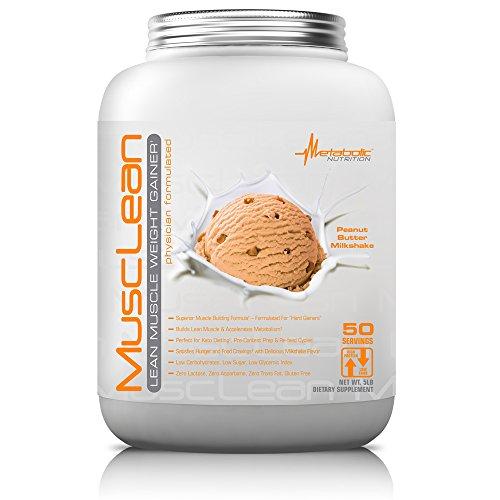 Metabolic Maintenance Nutrition Musclean Milkshake Weight Gainer, Peanut Butter, 5 Pound