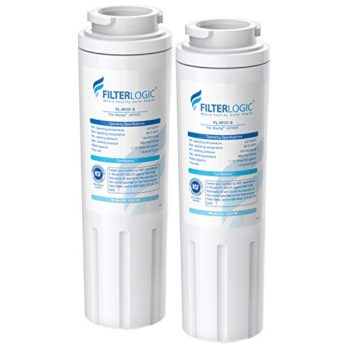 FilterLogic NSF 53&42 Certified UKF8001 Refrigerator Water Filter, Replacement for Maytag UKF8001P, Whirlpool EDR4RXD1, EveryDrop Filter 4, PUR 4396395 Puriclean II, UKF8001AXX-200, 469006 (Pack of 2) Amana Replacement Water Filters