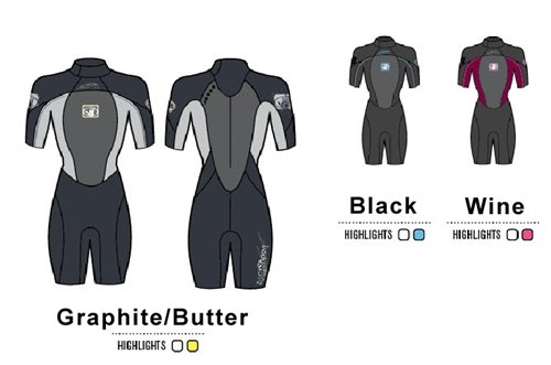 Glove Body Shorty - Body Glove Women's 2/1mm Method Back Zip Short Arm Springsuit Wetsuit, 7/8