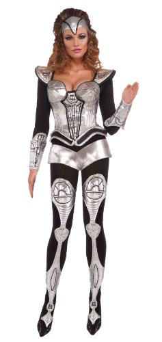 Forum Outta Space Sexy Cyborg Large Costume, Gray, One Size (Women Space Costume)