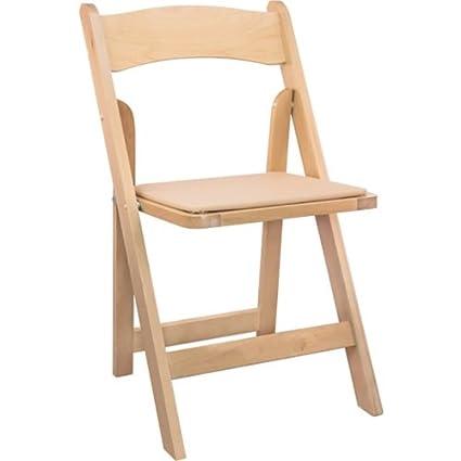 Amazoncom Wood Folding Wedding Chair Natural 4 Pack Kitchen