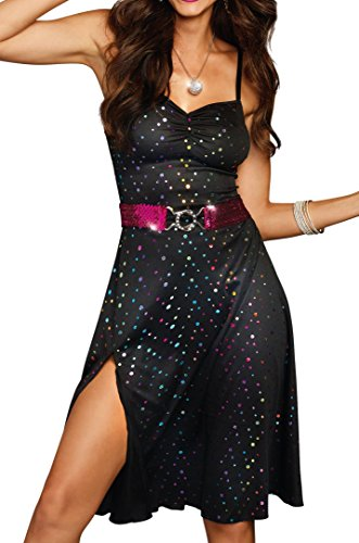 Dreamgirl Women's Disco Diva, Black, Large