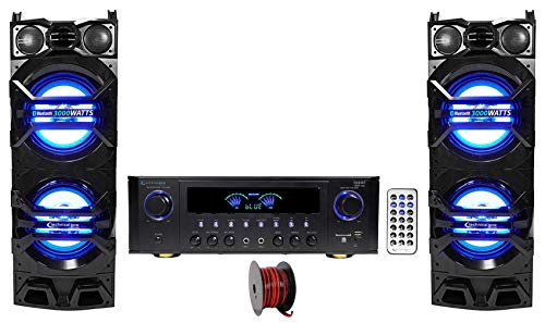 """(2) Technical Pro Dual 10"""" 1500w Speakers w/LED"""