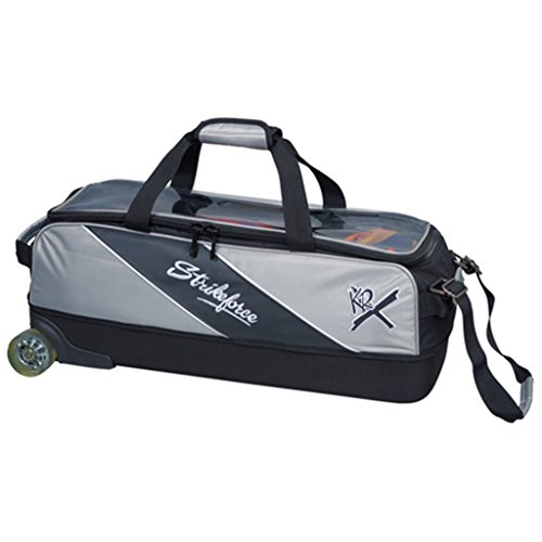 KR Strikeforce KR8313SIL-1 Fast Slim Triple Bowling Bag, Silver by KR