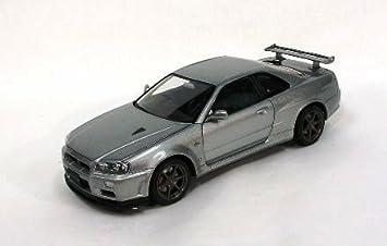 Nissan Skyline GTR R34 V Spec II Silver 1/24 Scale Diecast Model