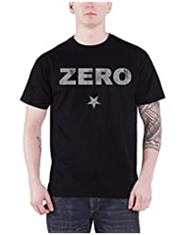 The Smashing Pumpkins T Shirt Zero glitter band logo Official Mens Black