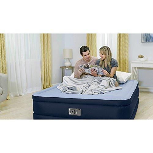 Intex Premaire Series Robust Comfort Airbed with Built-In Electric Pump, Bed Height 20'', Queen - Amazon Exclusive by Intex (Image #2)