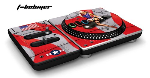 New DJ Hero Turntable Controller Designer Skin, Fits Xbox 360, Playstation 2 & 3 - T Bomber Red