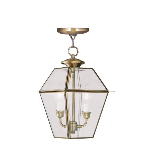 Antique Brass Outdoor Hanging Light