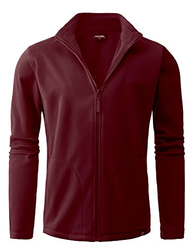 Stone Feather Men's long sleeve RED ComfortSoft Zipped jacket(L)