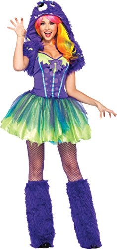 [GTH Women's Storybook Sexy Purple Posh Rave Monster Animal Fancy Costume, S/M (4-8)] (Rave Monster Costume)