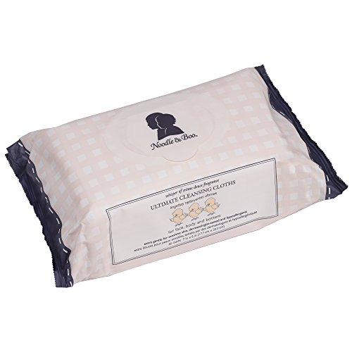 Noodle & Boo Ultimate Cleansing Cloths for Baby; Hypoallergenic, Sensitive Skin, Face, Hand and Body Wipes, 80 ct.