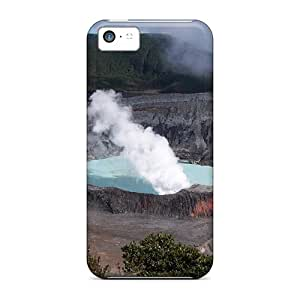 Awesome Poas Volcano Crater Flip Case With Fashion Design For Iphone 5c