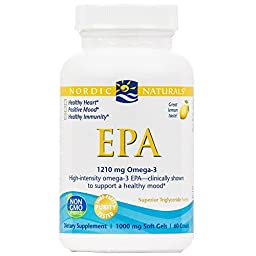 Nordic Naturals - EPA, Clinically Shown to Support a Healthy Mood, 60 Soft Gels (FFP)