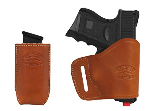 New Barsony Tan Leather Yaqui Gun Holster + - Cw40 Mag