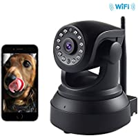 SENDOW Wireless Nanny Cam With Motion Detection Wifi IP Dome Web Camera With IR CUT Night Vision 350 Degree P2P Pan Tilt Pet Baby Monitor with for Home & Office